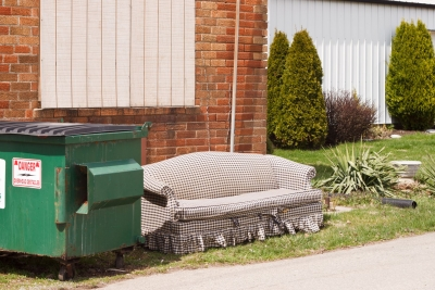 Couch Next to Dumpster