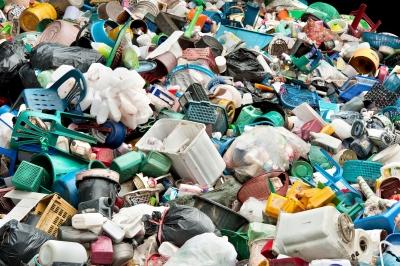Plastics in Dumpster