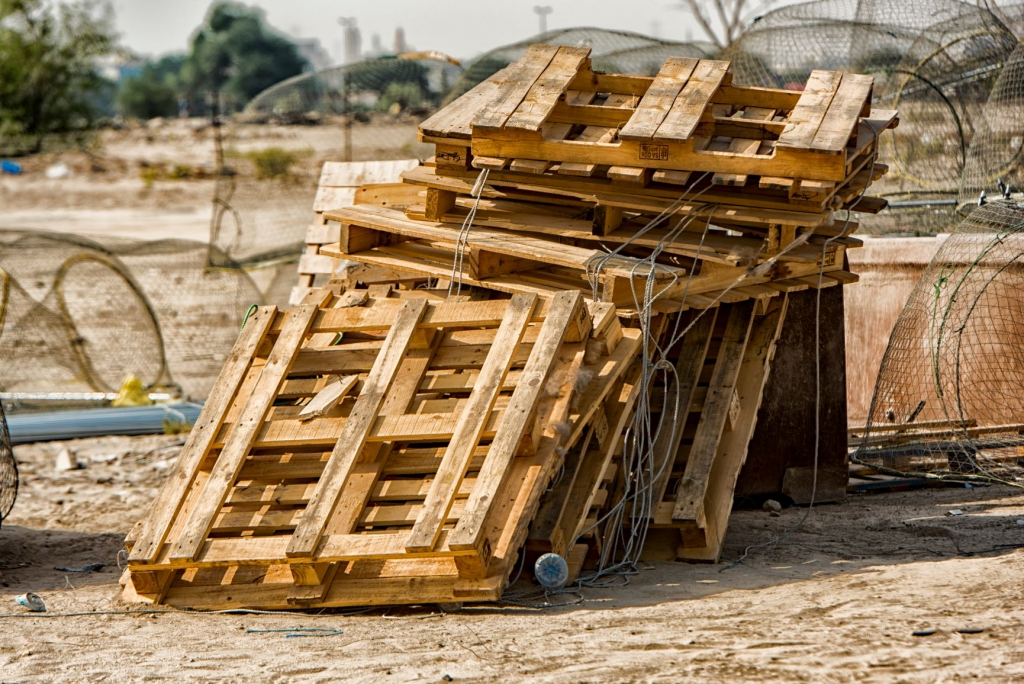 Canva - Brown Wooden Pallets